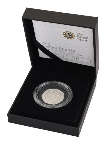 2010 Silver Proof Piedfort 50p - Girl guides